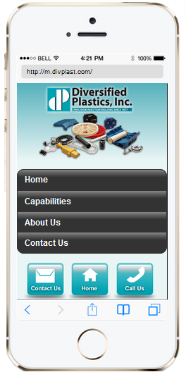 Diversified Plastics' Mobile Website