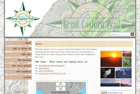 Great Eastern Trail Website